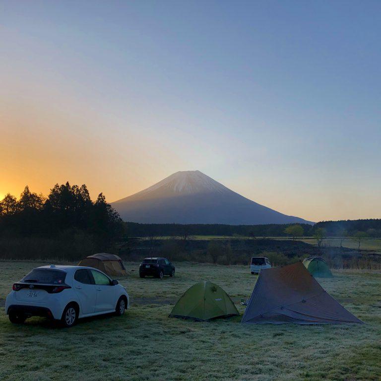春の標高830mで初テント泊